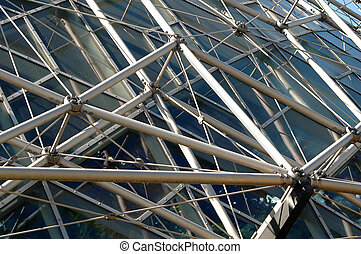 geodætiske, struktur, i, bygning