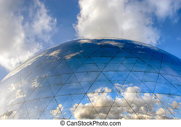 geode sky reflection - clouds reflection on technology ...