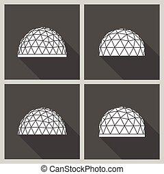 geodesic palác, vektor, byt