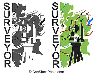 Geodesy and cartography symbol for surveyor