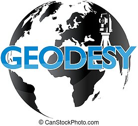 Geodesy and the globe symbol for business
