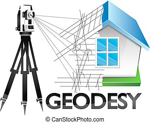 Geodesy symbol for surveyor vector - Geodesy is a symbol for...