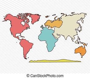 geographic design over white background vector illustration