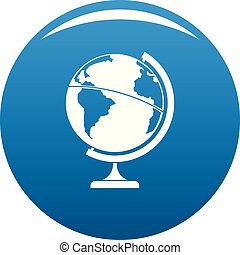 Geographic planet icon blue vector