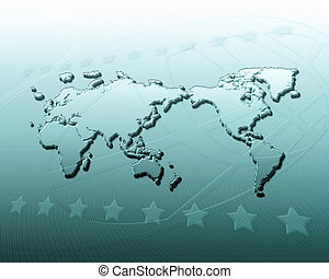 Geography abstract background
