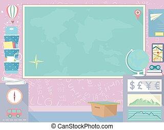 Geography Blackboard Design Board