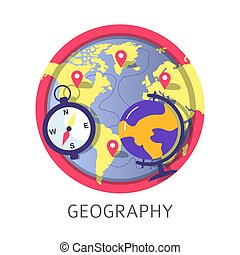 Geography discipline at school university or college classes