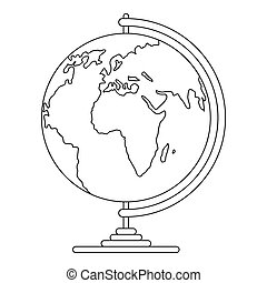 Geography icon, outline style.