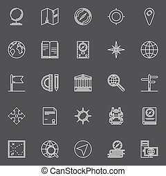 Geography icons