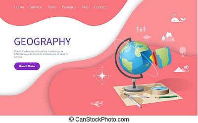 Geography School Discipline, Globe Earth Model