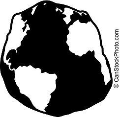 geoid, atlantique, forme, océan