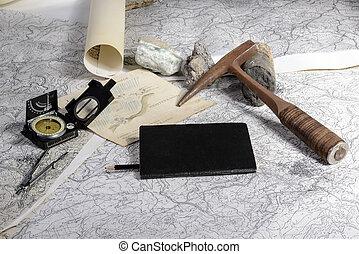 geológico, expedição