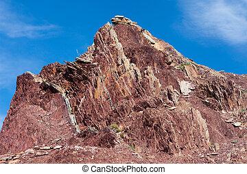 geológico, exposto, camadas