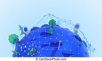 geolocation, ポイント, 地球, 素晴らしい