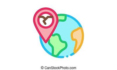 geolocation, ertnkuake, animation, icône