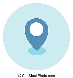 Geolocation Pin Icon Navigation Position