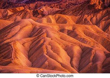geologia, de, vale morte
