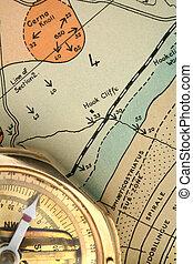 geologia, -, traçando, 2