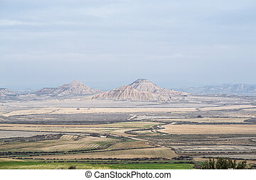Geological features in Bardenas