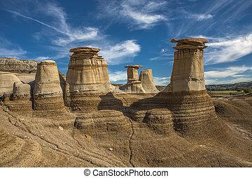 geological formations - hoodoos geological wind sculptures