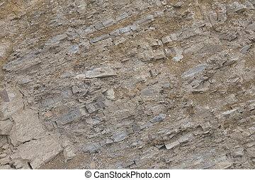 Geological striations
