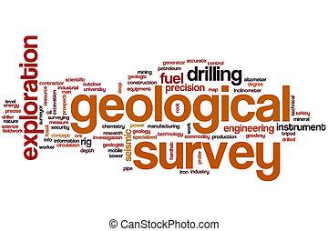 Geological survey word cloud concept