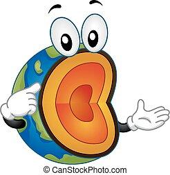 Geology Earth Mascot Layers