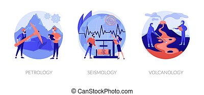 Geology science abstract concept vector illustrations. - ...