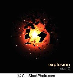geomã©´ricas, explosão, espaço