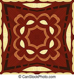 geomã©´ricas, folheado, madeira, template., inlay, decoração...