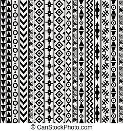 geométrico, arabescos, fundo, étnico