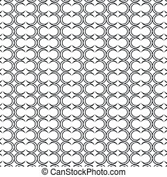 geométrico, círculos, patrón