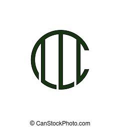 geométrico, cm, simple, línea, logotipo, vector, carta