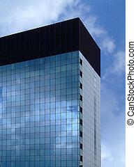 geométrico, corporativo, edificio