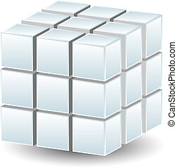 geométrico, cubo