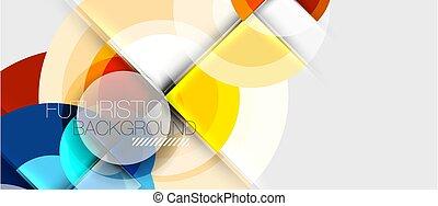 geométrico, diseño, circular, plantilla
