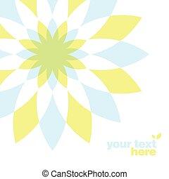 geométrico, flor, tarjeta de felicitación