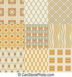 geométrico, papel pintado, seamless