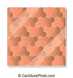geométrico, pavimento, mosaico, diseño, guijarro