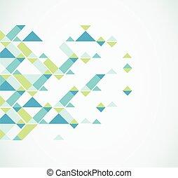 geométrico, resumen, fondo., vector