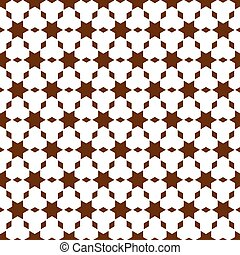 geométrico, seamless, patrón, en, islámico, estilo