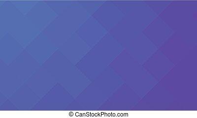 geométrico, vector, fondo., rectangular, púrpura, ilustración, horizontal., resumen, neón, pattern., azul