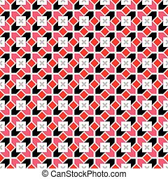 geométrico, vector, seamless, patrón