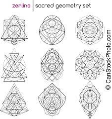geometría, conjunto, sagrado