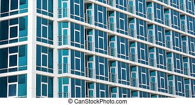 geometría, edificio, abstracción