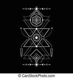 geometría, magia, navajo, triángulo, sagrado