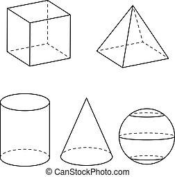 geometría, vector