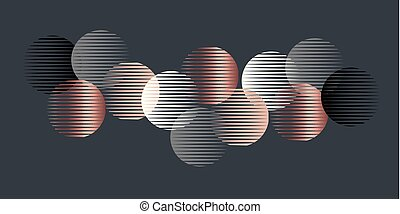 geometri, mönster, formar, elegant, lyxvara, runda