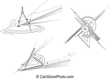 geometri, verktyg