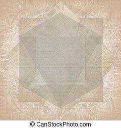 geometria, abstratos, Símbolo, fundo, sagrado